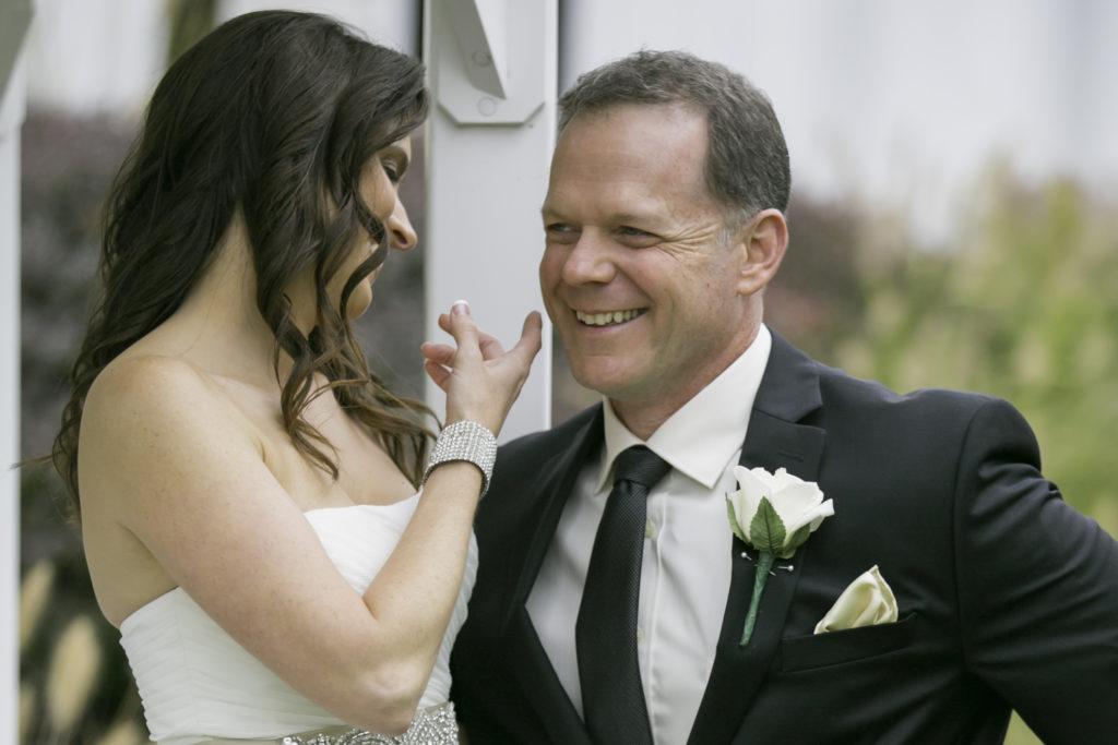 Deerfield CC wedding - bride and groom
