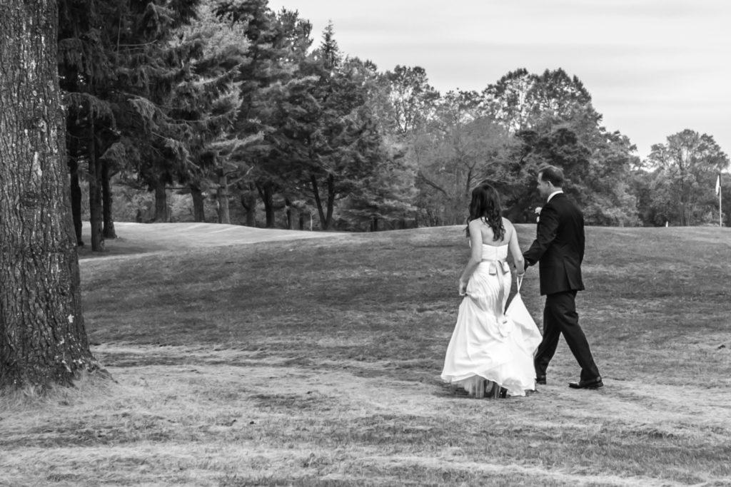 Deerfield CC wedding - bride and groom small people big world